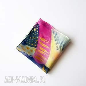 wyjątkowe krawaty poszetka malowana - abstrakcyjny