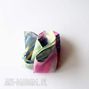 wyjątkowe krawaty męska chusteczka malowana poszetka - abstrakcyjny