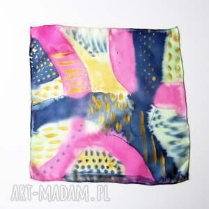krawaty męska chusteczka malowana poszetka - abstrakcyjny