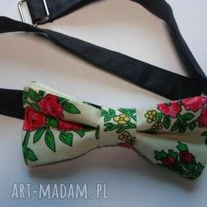 eleganckie krawaty mucha męska folk design aneta