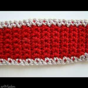 nietypowe krawaty damski krawat - pasek czerwony