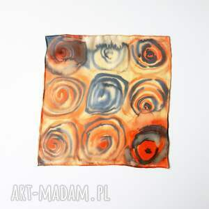 poszetka krawaty ręcznie malowana