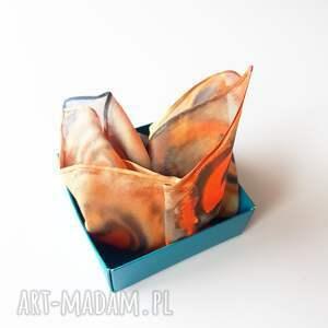 ręcznie robione krawaty poszetka malowana