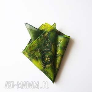 oryginalne krawaty poszetka ręcznie malowana