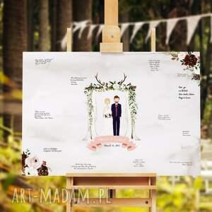 handmade księgi gości ślub alternatywna księga obraz