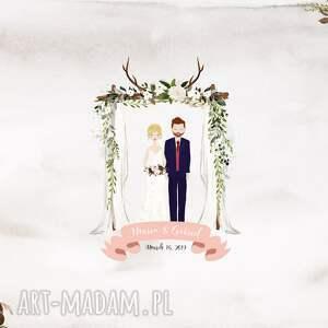 różowe księgi gości wesele alternatywna księga obraz