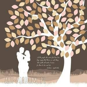 gości księgi drzewo wpisów pary zakochanych