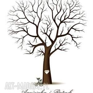 unikatowe księgi gości księga drzewo wpisów weselnych b2