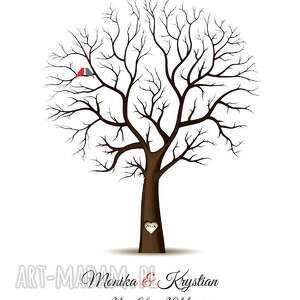 księga księgi gości drzewo wpisów weselnych b2