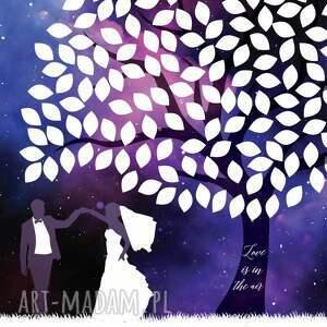 fioletowe księgi gości księga drzewo wpisów weselnych