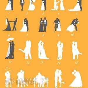 ręcznie wykonane plakat wpisów drzewo gości weselnych