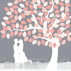 gości księgi drzewo wpisów pary zakochanych ślub