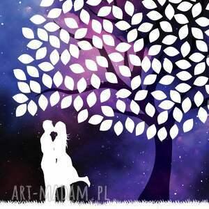 ręcznie wykonane księgi gości wesele drzewo wpisów weselnych