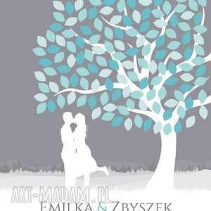księgi gości księga drzewo zakochanych - plakat a