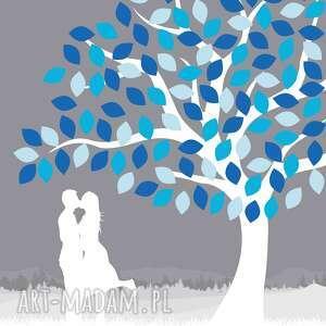 księga księgi gości drzewo zakochanych - plakat ala