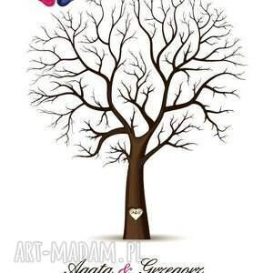 różowe księgi gości ksiega eleganckie drzewo wpisów