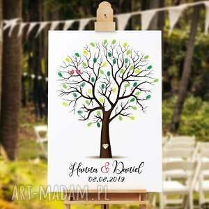 wesele księgi gości eleganckie drzewo wpisów