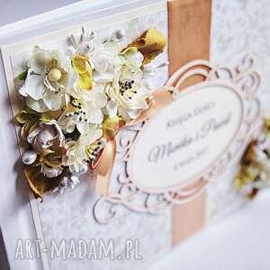 ręcznie robione księgi gości księga z kwiatami