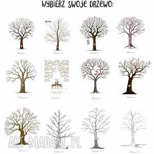 księgi gości drzewo wpisów plakat 60x90 cm