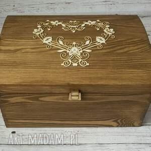 księgi gości drewno kufer na koperty - ażurowe
