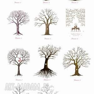 Kreatywne Wesele Obraz a la księga gości - artystyczne drzewo wpisów 50x70