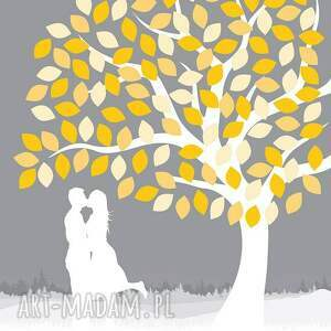 handmade księgi gości księga obraz alaksięga - drzewo