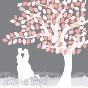 ręcznie wykonane księgi gości ślub obraz alaksięga - drzewo