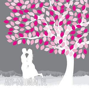 kolorowe księgi gości ślub obraz alaksięga - drzewo