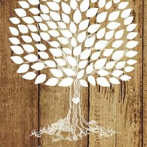 unikalne księgi gości obraz drzewo wpisów 55x80