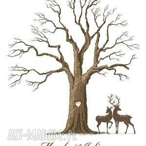 drzewo księgi gości obraz na płótnie - wpisów