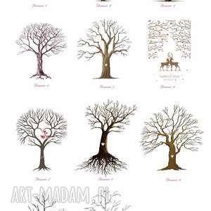 księga-gości księgi gości obraz weselny drzewo wpisów