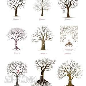 obraz księgi gości piękny na płótnie - drzewo