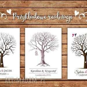 niesztampowe księgi gości księga piękny obraz na płótnie - drzewo