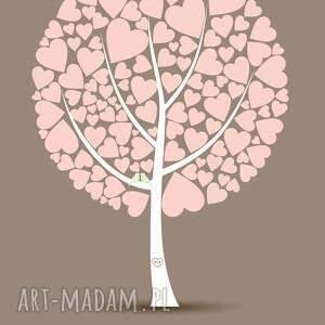 efektowne drzewo plakat do wpisów gości