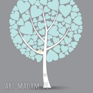 różowe księga plakat do wpisów gości - drzewo