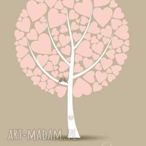 plakat księgi gości do wpisów - drzewo