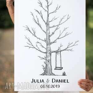 księgi gości księga plakat drzewo wpisów 60x90 cm
