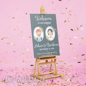 ręcznie robione księgi gości plakat powitalny weselnych