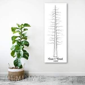 ciekawe księgi gości księga plakat drzewo - sekwoja rodzinna. format 30x90