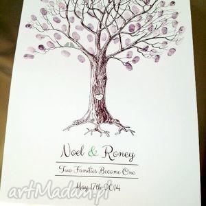 Kreatywne Wesele księgi gości księga plakat weselny - drzewo wpisów
