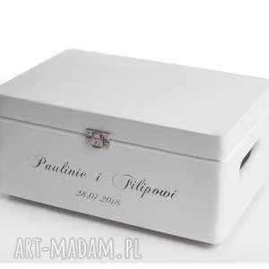 eleganckie księgi gości ozdobne-pudełko prezent ślubny dla pary