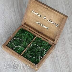 gustowne księgi gości pudełko na obrączki - żona &