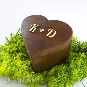 drewno księgi gości pudełko na obrączki