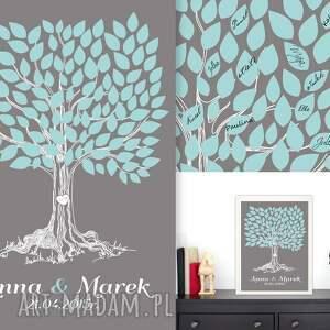 księgi gości księga romantyczne drzewo wpisów - 40x50