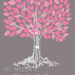 plakat księgi gości romantyczne drzewo wpisów - 40x50