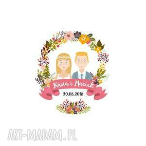 kolorowe księgi gości obraz romantyczny - księga