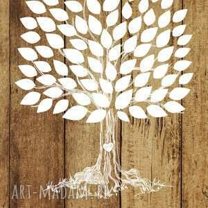 handmade księgi gości drzewo rustykalne wpisów - jak