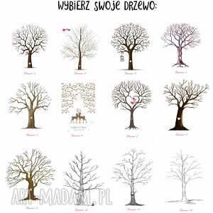 księgi gości obraz rustykalne drzewo wpisów