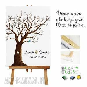 obraz księgi gości rustykalne drzewo wpisów