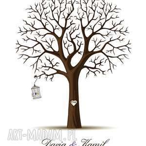 księgi gości drzewo obraz na płótnie - wpisów